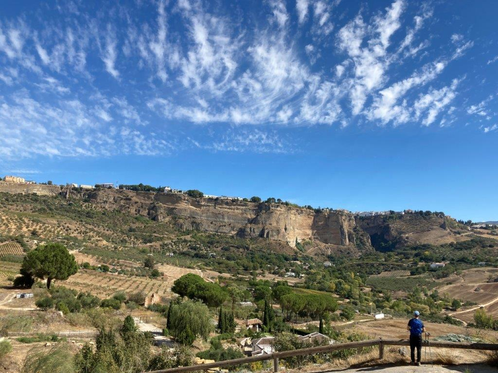 View of Ronda Spain from Carretera Los Molinos