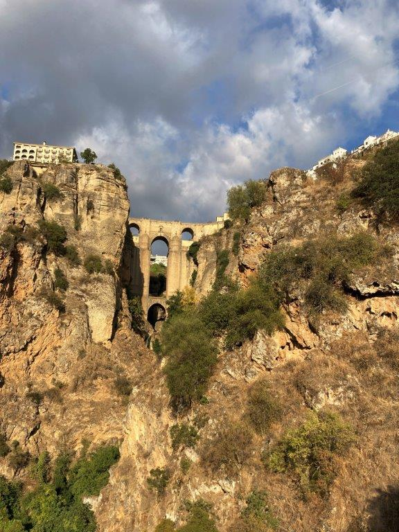 View of the New Bridge in Ronda Spain