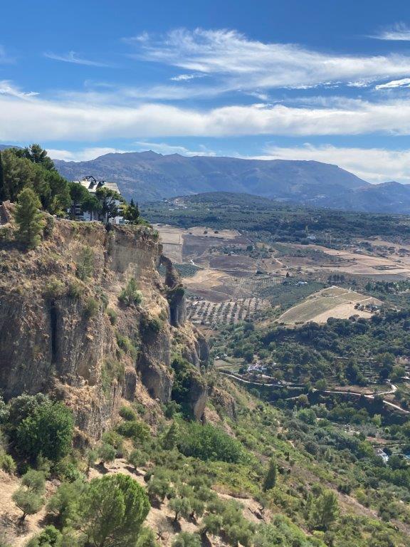 View from Mirador Virgen del Rocio in Ronda Spain