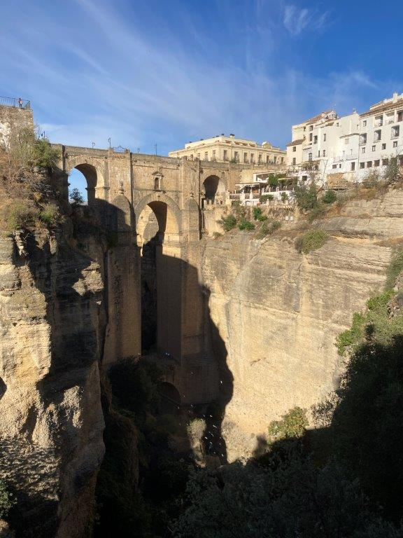 New Bridge in Ronda from Mirador de Cuenca