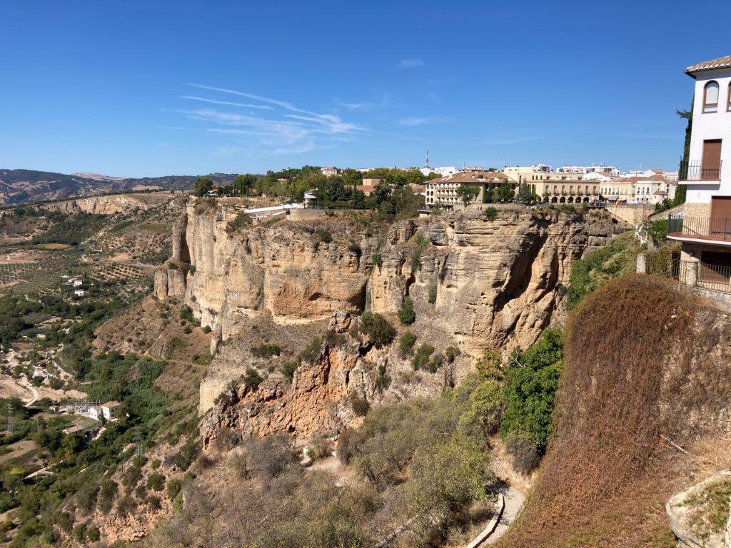 View from Plaza de la Maria Auxiliadora in Ronda Spain