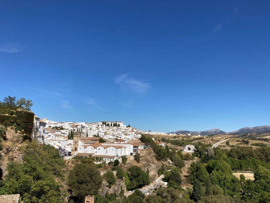 View from Puerta de la Cijara in Ronda Spain