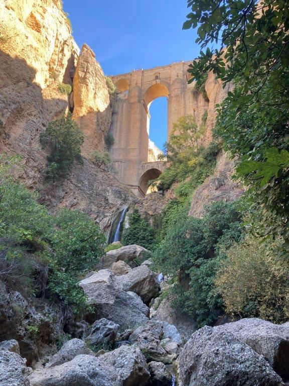 Puente Nuevo from below on Rio Guadalevin in Ronda