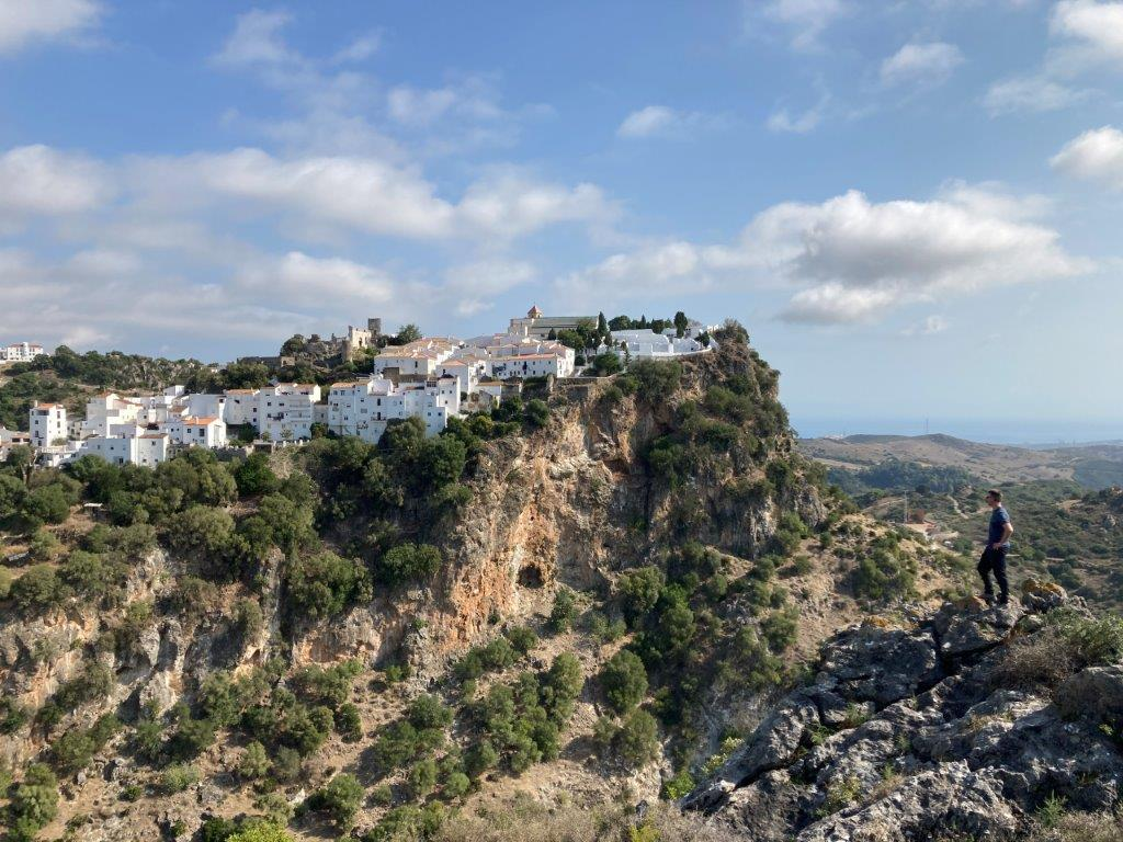 White village of Andalucia Casares on the edge of a cliff